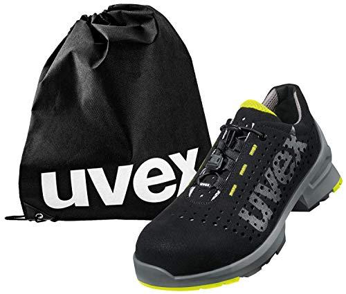 Uvex 1 - Arbeitsschuhe - Sicherheitsschuhe S1 SRC ESD - leicht & rutschfest - mit Schuhbeutel - Lime-Schwarz - 50
