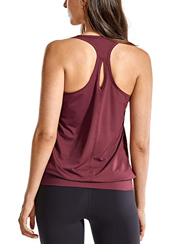 SYROKAN - Camiseta Deportiva de Tirantes para Mujer Rosa M