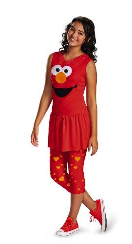 Disguise Disfraz clsico de Elmo Tween de Barrio Ssamo, Solo Color, X-Large/14-16 US