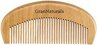 GranNaturals Wooden Comb Hair + Beard Detangler for Women and Men - Natural Anti Static Wood for Detangling and Styling Wet or Dry Curly, Thick, Wavy, or Straight Hair - Small Pocket Sized [並行輸入品]