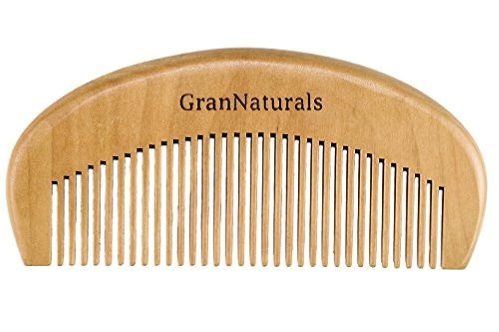 恐竜光電忙しいGranNaturals Wooden Comb Hair + Beard Detangler for Women and Men - Natural Anti Static Wood for Detangling and Styling Wet or Dry Curly, Thick, Wavy, or Straight Hair - Small Pocket Sized [並行輸入品]