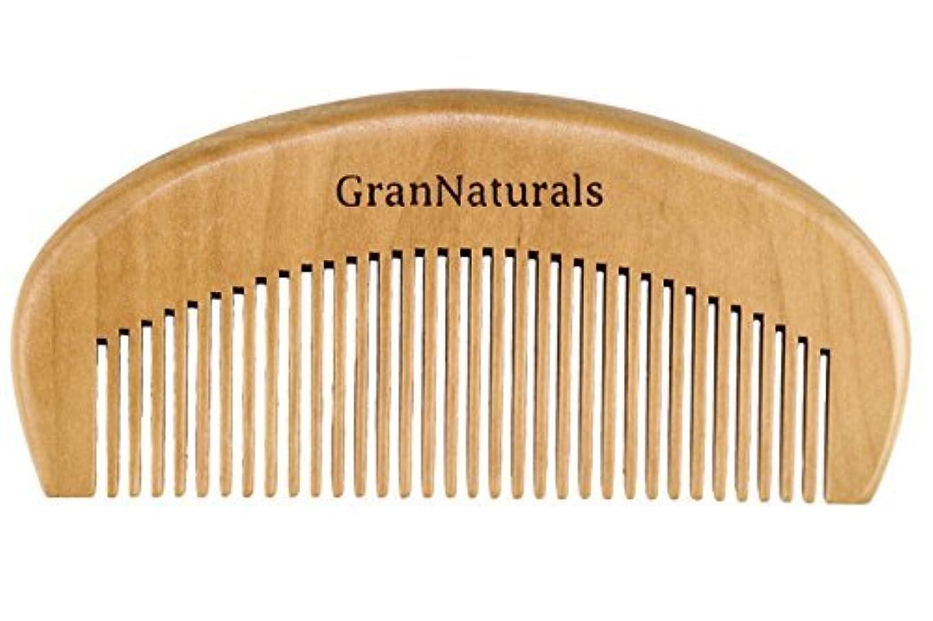 物語プレゼンテーションページェントGranNaturals Wooden Comb Hair + Beard Detangler for Women and Men - Natural Anti Static Wood for Detangling and Styling Wet or Dry Curly, Thick, Wavy, or Straight Hair - Small Pocket Sized [並行輸入品]