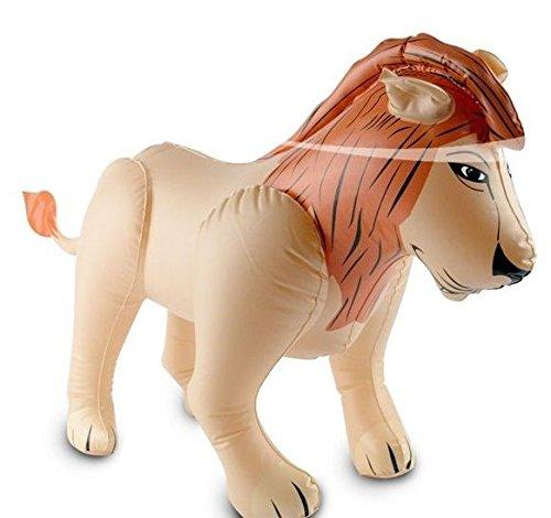 Lion gonflable XXL - Pour la décoration ou le jeu pour les anniversaires d'enfants et les fêtes à thème - Décoration gonflable pour enfants - Thème : Afrique, Safari - Grand ballon gonflable