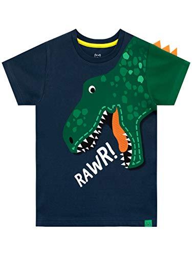 Harry Bear Camiseta de Manga Corta para niños Dinosaurio Azul 2-3 Años