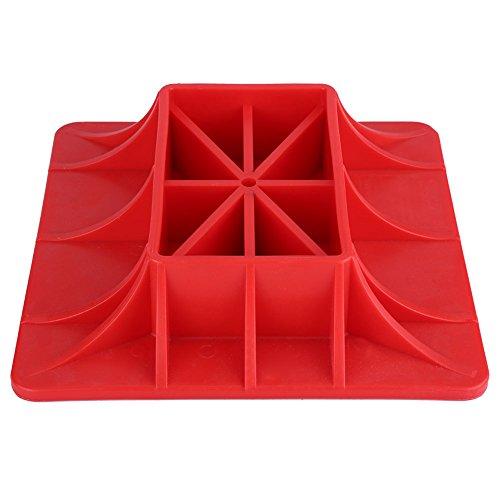 ROSEBEAR Abs Offroad Base Hebebock Oberfläche Pad Rote Farbe um Jack Heben Sinker Autoreparaturzubehör zu Lindern