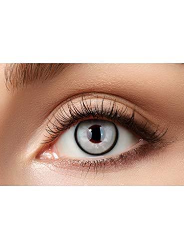 Maskworld Infizierter Kontaktlinsen / Jahreslinsen - Motivlinsen ohne Sehstärke - Unisex - Erwachsene - ideal für Halloween, Karneval, Motto-Party & Horror-Events