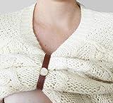 ShirtUP Still-Clip. Alternative zu Stillmode. Stilltop, Stillhemd, Stillshirt, Stillpullover - Accessoire für stillende Mütter - Braun Silber/Gold. Designed by Cookiefing