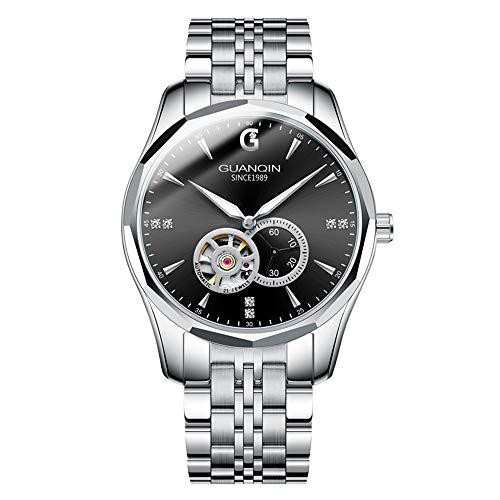 Guanqin - Reloj de pulsera para hombre, diseño de esqueleto