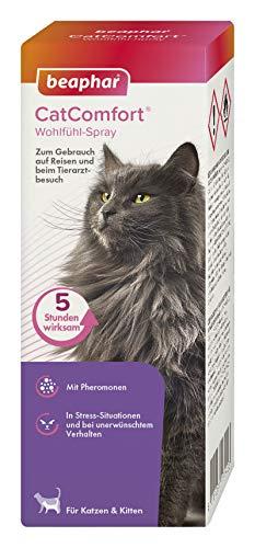 beaphar CatComfort Wohlfühl-Spray, Beruhigungsmittel für Katzen mit Pheromonen, 60 ml