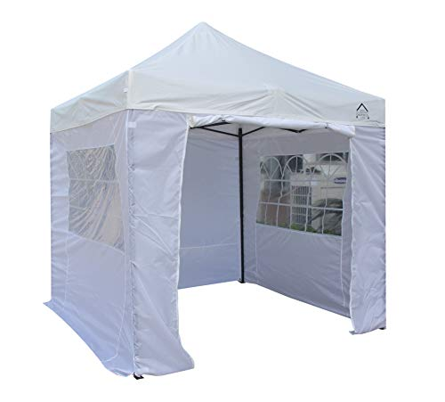 All Seasons Gazebos 2.5 x 2.5m Heavy Duty, Fully Waterproof Pop up Gazebo With 4 Side Walls (White)