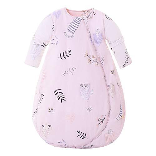 Baby Winter schlafsack Kinder schlafsack 3.5 Tog Schlafsaecke aus Bio Baumwolle Verschiedene Groessen von Geburt bis 3 Jahre alt(L/Koerpergroesse 80-90cm)
