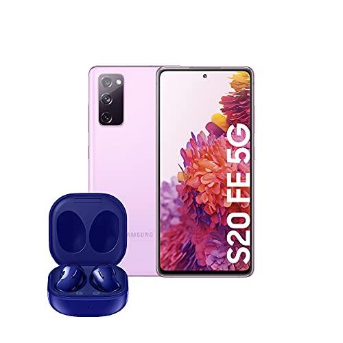 Samsung Smartphone Galaxy S20 FE con Pantalla Infinity-O FHD+ de 6,5 Pulgadas, 6 GB de RAM y 128 GB, Color Lavanda + Buds Live - Auriculares Bluetooth inalámbricos