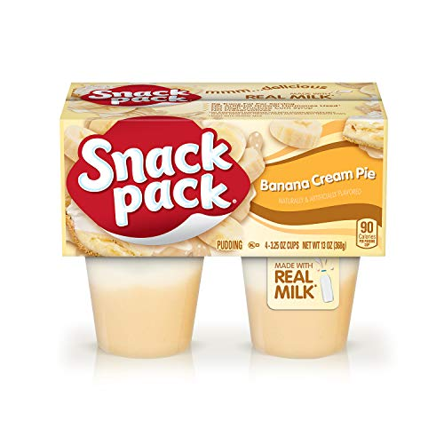 Snack Pack Banana Cream Pie Pudding Cups 4 Count 12 Pack