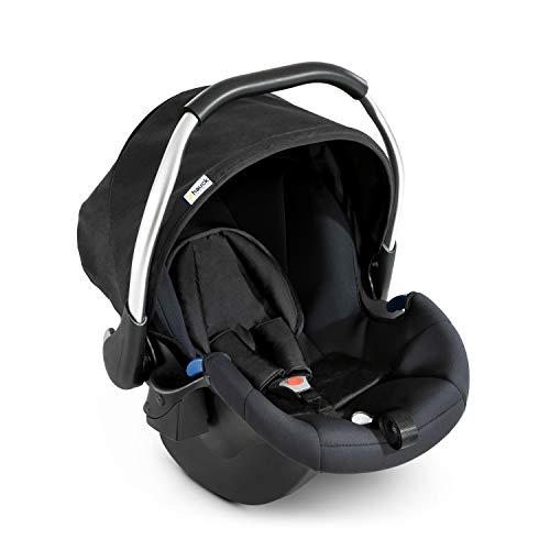 Hauck Babyschale Comfort Fix, ECE Gruppen 0 ab Geburt bis 13 kg nutzbar, leicht, Seitenaufprallschutz, mit Isofix Base kompatibel, schwarz (black)