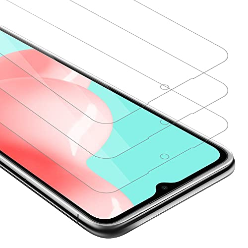 Cadorabo 3x Película Protectora para Samsung Galaxy A72 4G / 5G en TRANSPARENCIA ELEVADA - Paquete de 3 Vidrio Templado (Tempered) Cristal Antibalas Compatible 3D con Dureza 9H