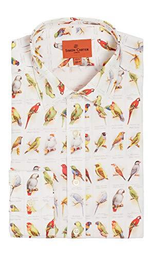 Simon Carter volière en kooi vogels Vintage sigaret kaarten Shirt