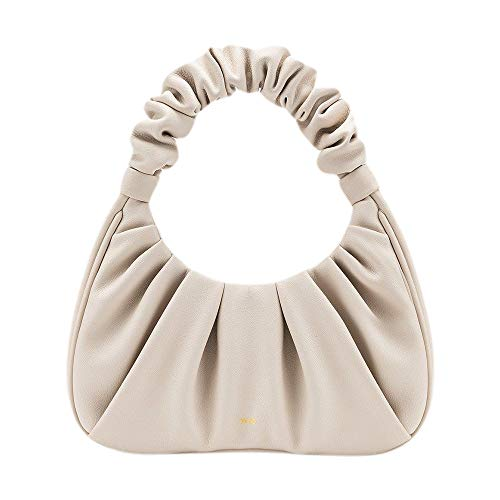 JW PEI Small Handbag Purse Clutch Vegan Leather Hobo Handbags for Women Magnetic Closure (Beige)