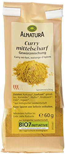 Alnatura Bio Curry, 7er Pack (7 x 60 g)