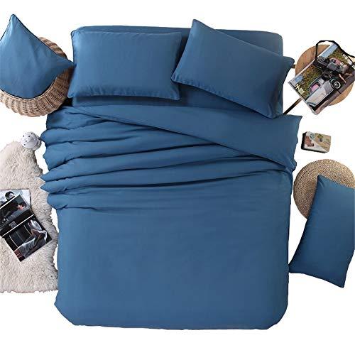 KLLT omkeerbaar dekbedovertrek, 100% katoen, dekbedovertrek, voor 1 persoon, slaapzaal, bed met overtrek voor slaapkamer, tweepersoonsbeddengoed, zacht, comfortabel, sprei, 220 x 240 cm
