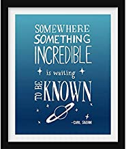 Rainbow Store Carl Sagan Space Art Inspirational Quote Motivational Poster Astronomy Print Teacher Gift Nursery Decor Typography Print Graduation Gift