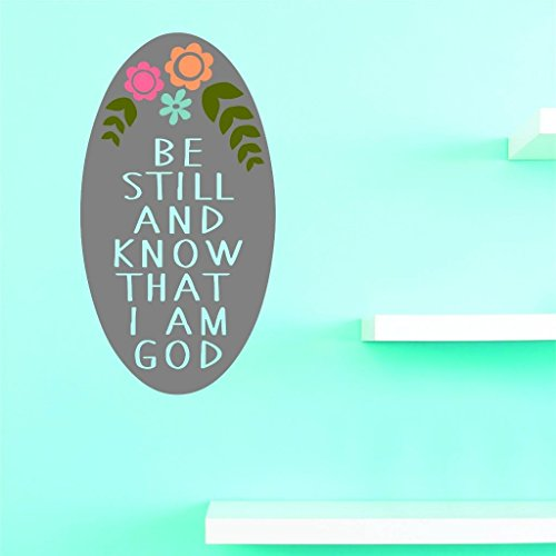 Design with Vinyl US V JER 3381 1 Top Selling Decals Be Still And Know That I Am God Wall Art Size: 10 Inches X 20 Inches Color: Multi, 10  x 20