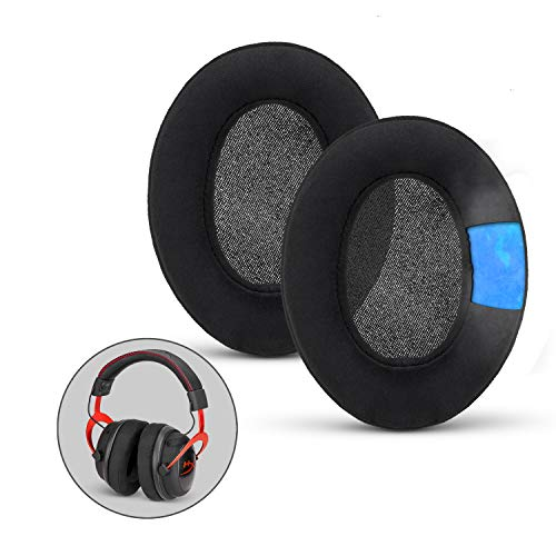 Brainwavz Gaming Earpads for SteelSeries Arctis, HyperX Cloud & Other Gaming Headsets, ATH M50X, SHURE & Other Headphones (See List), Cooling Gel, Memory Foam, Micro Suede, Oval Ear Pad