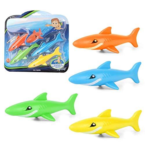 Morningtime Tauchspielzeug Hai Unterwasser Tauchen Tauchset Schwimmen Hai Sinken Pool Tauchspielzeug Set für Kinder