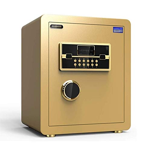 WSMLA Security Safe - Digital Safe,Electronic Steel,Fireproof Lock Box with Keypad to Protect Money,Jewelry,Passports for Home,Business or Travel (Color : Gold)