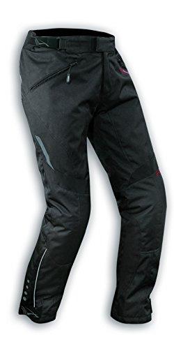 A-pro - Pantalones de Moto Impermeables para Mujer, con Acolchado extraíble, Color Negro 26