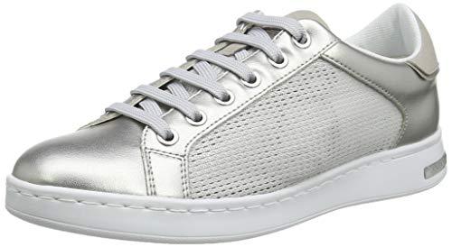 Geox D Jaysen A, Zapatillas Mujer, Plateado (Silver C1007), 37 EU
