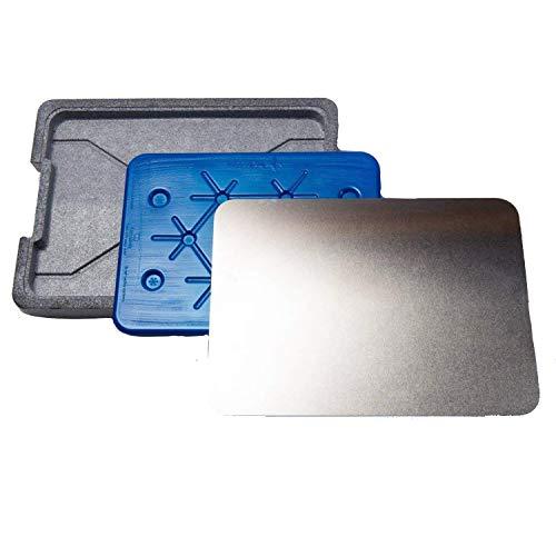 ONVAYA - Piastra refrigerante per BBQ, con piano di raffreddamento incluso, 39 x 4 x 29 cm, piastra in alluminio e polistirolo estruso, 1 pezzo