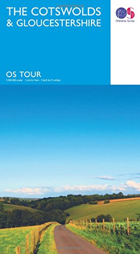 Touring Map The Cotswolds & Gloucestershire (OS Tour Map)