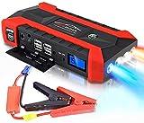 JYZT Booster De Batería De Coche De 20000 MAh, Banco De Energía De Carga Rápida USB Portátil para Arranque De Emergencia Exterior, Arrancador De Coches De 12 V con Brújula Y Martillo De Seguridad