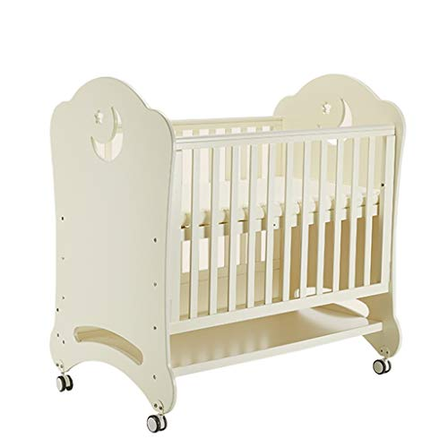 Best Review Of DUWEN Cot Bed Solid Wood Multifunctional Baby Cot European Toddler Bed Game Bed Sofa ...