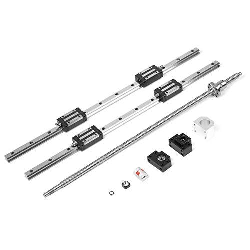 Riel de guía lineal de 700 mm resistente al desgaste por fricción pequeña duradera, tornillo de bola de 700 mm, equipo automático de precisión para medición de precisión
