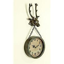 MW Deer Wall Clock 9.5X19.5X4.25