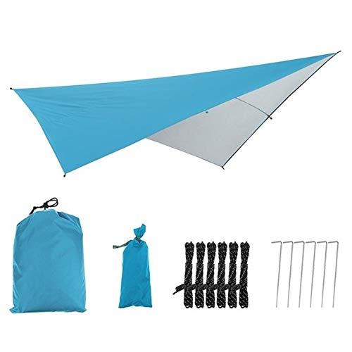 W.Z.H.H.H Schattensegel Polyester Markise Sun Shelter Tarp Zelt Outdoor-Camping-Garten Schatten Baldachin Sonnenschirm Beach Hammock Wasserdicht Sonnenschutztuch. (Color : Sky Blue, Size : One-Size)