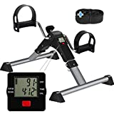 TABEKE Under Desk Bike Pedal Exerciser - Pedal Exerciser for Arm/Leg Workout, Portable Desk Bike Peddler...