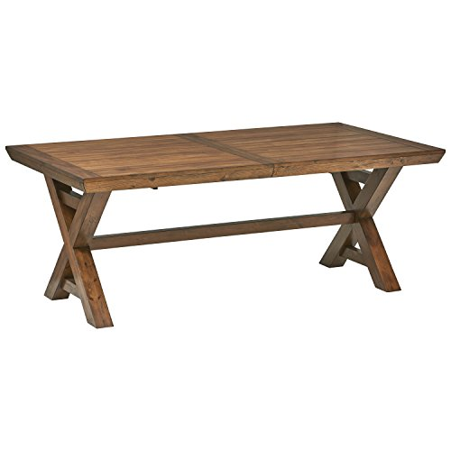 Amazon Brand – Stone & Beam Alejandra Unfinished Wood Kitchen Dining Table, Storage, Brown