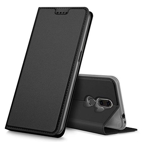 GEEMAI Alcatel 3V Hülle, Alcatel 3V Hülle, [Kartenfächer] [Magnetverschluss] Premium Leder Flip Wallet Hülle Cover für Alcatel 3V Smartphone, Schwarz