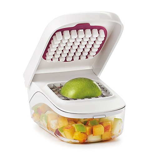 OXO Good Grips Vegetable Chopper with Easy Pour Opening - White