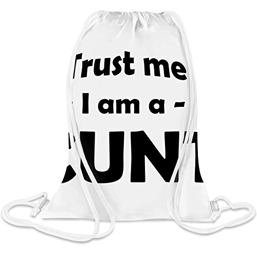 Vertrau mir, ich bin eine Fotze - Trust me I'm a cunt Custom Printed Drawstring Sack 5 l 100% Soft Polyester A Stylish Bag For Everyday Activities
