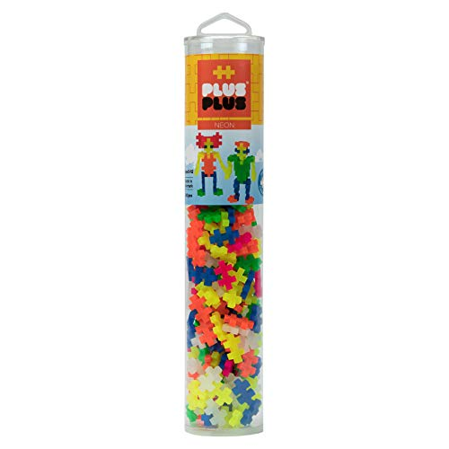 Plus-Plus 300.4186 - Tubo Fluorescente (240 pz), Multicolore
