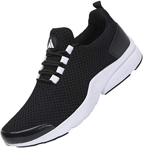 Mishansha Unisex Laufschuhe Low-Top Komfortabel Turnschuhe Dämpfung Joggingschuhe Verschleißfest Sportschuhe Freizeitschuhe Leicht Schuhe für Draußen, Schuhe Schwarz 42