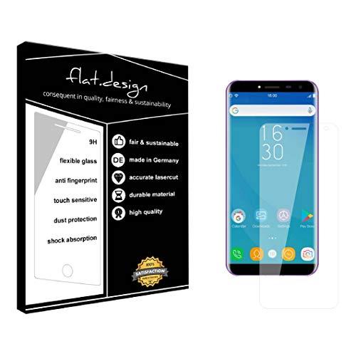 1x Bildschirm Schutz für Oukitel C8 Screen Bildschirmschutz Schutzfolie kristallklar Flexible Folie, robust wie Glas. Qualität, Nachhaltigkeit und Fairness Made in Germany