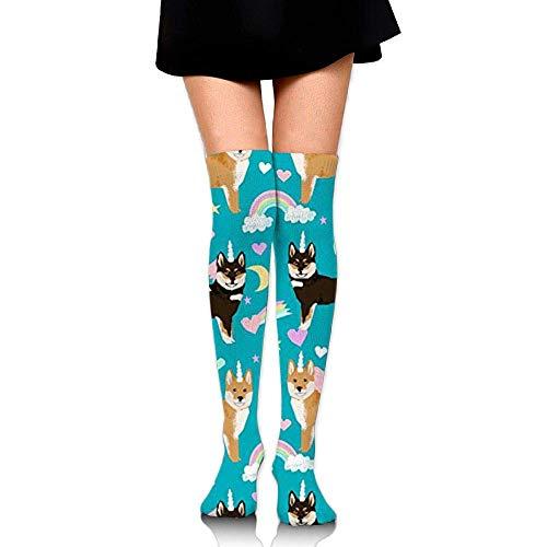 Compression Socks Dog Love Cat Unisex Full Socks Long Socks Knee High Socks Long 50cm)
