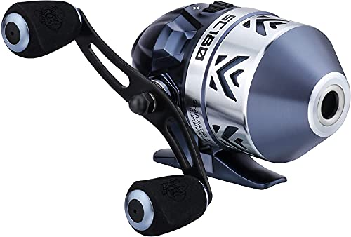 RUNCL SC330 Spincast Fishing Reel, Push Button Casting Design, High Speed 4.0:1 Gear Ratio, 7+1 Ball Bearings, 17.5 LB Max Drag, Reversible Handle for Left/Right Retrieve, Includes Monofilament Line