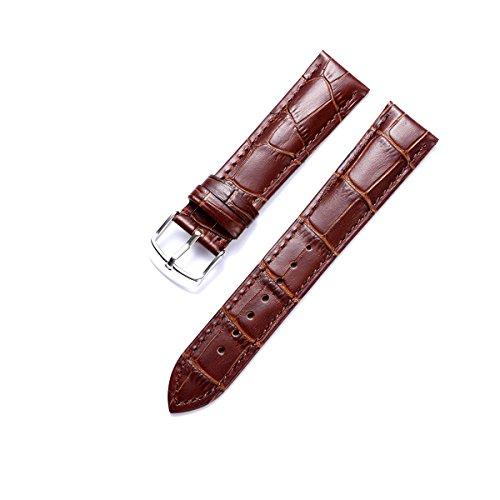 BINLUN Original-Uhrenarmband aus Kalbsleder mit mehrfarbigem Leder aus Krokodilmuster (12mm, 13mm, 14mm, 15mm, 16mm, 17mm, 18mm, 19mm, 20mm, 21mm, 22mm, 23mm, 24mm)