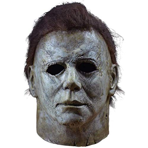 XWYZY Mscara de Halloween Michael Myers para cabeza completa para Halloween, carnaval, disfraz de fiesta, disfraz de terror, mscara de ltex gris