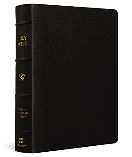 ESV Single Column Journaling Bible, Large Print (Buffalo Leather, Deep Brown)